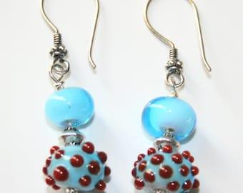 Aqua blue dangley earrings