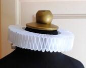 White Elizabethan Ruff Collar,Renaissance Costume Ruffle Collar,Mardis Gras Costume - Made to Order
