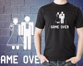 Game Over T shirt Shirt Wedding Marriage Gift Funny Wedding T shirt Tee