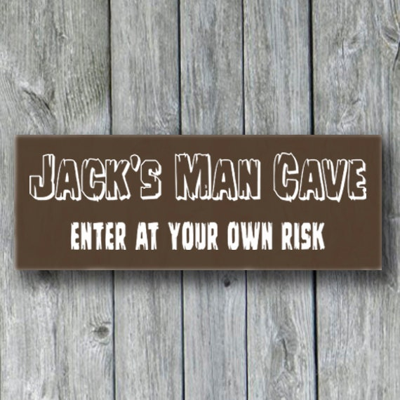 Personalized Man Cave Signs Etsy : Items similar to personalized man cave sign fathers day
