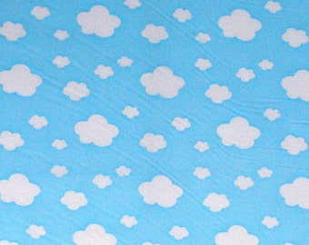 Cotton Blend Fabric Clouds in 3 Colors By The Yard