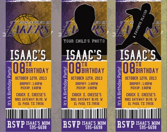 Custom Lakers Birthday/Event Invitation!