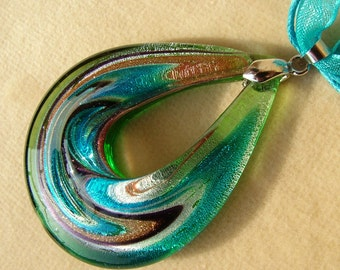 Handmade Lampwork Murano glass beads and fire polished