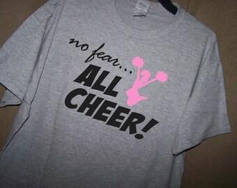 NO FEAR All CHEER Cheerleading Shirt