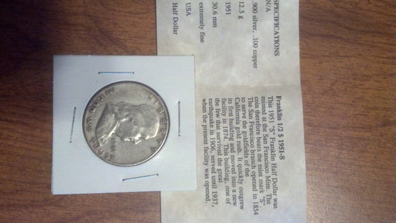 1951-S Franklin Silver Half Dollar SPECIAL  Price