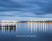 USNA Blue Hour - Maryland Photography - Annapolis Naval Academy / Jonas Green Park - Metallic Print