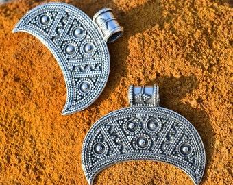 Slavic Silver Lunula Fertility Women Pendant Slavonic Pagan Jewels Lunitsa Lunette Pagan Jewel