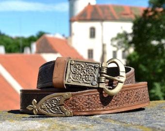 Medieval Leather Belt Middle Ages