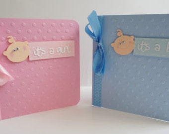 Handmade Baby Girl or Baby Boy Card New Baby Nappy Cakes Baby shower Gifts