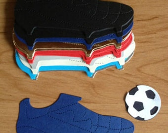 15 large Mens Boys Football boot die cuts for cards/toppers cardmaking-scrapbooking