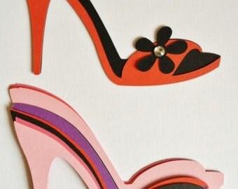 Stunning ladies girls womens large High Heel Shoe die cuts for cards/toppers cardmaking scrapbooking