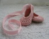 baby ballet slippers with ribbon