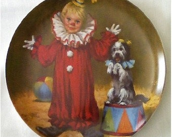 Tommy the Clown first issue Collector Plate