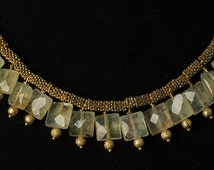Citrine and Daisy necklace