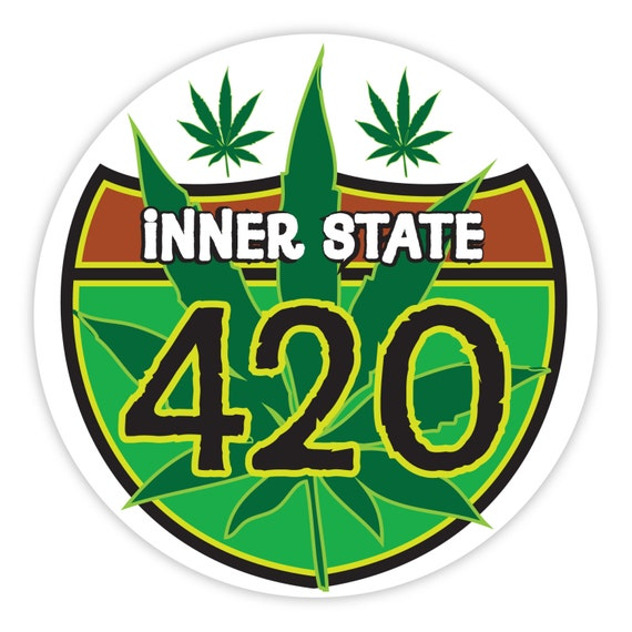 Celebrate 420 4:20 or 4/20 Legalize Marijuana Weed Sticker