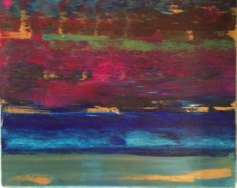 """Titled: Green Flash - Original Acrylic Abstract Painting - 30"""" x 36"""""""