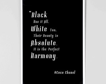 Black dress quotes coco chanel | Black Fashion hits