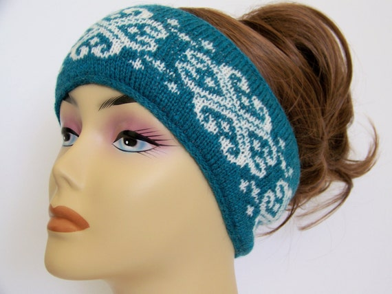 Knitting Pattern Ski Headband : Items similar to Fair Isle Winter Ski Headband, Womens ...