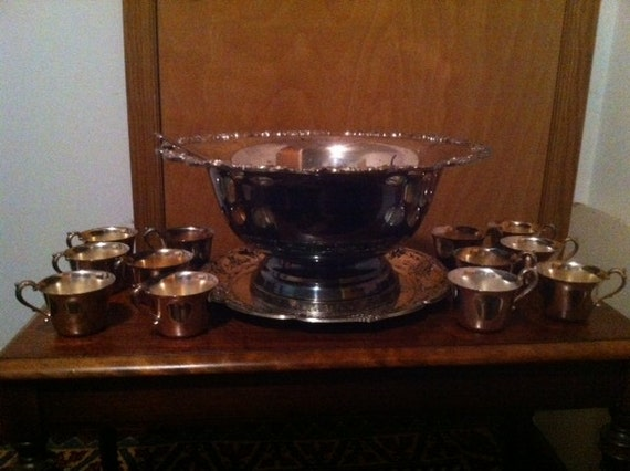 Founders Finds offers this Towle Punch Bowl Set