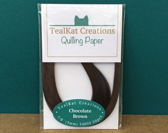 Chocolate Brown Quilling Paper