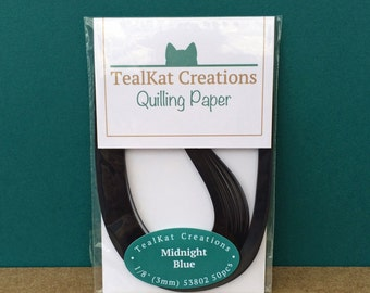 Midnight Blue Quilling Paper