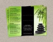 Items Similar To Massage Business Brochure Design Custom - Spa brochure template
