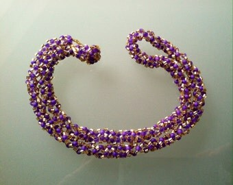 Lavender and gold necklace