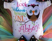 Personalized Birthday Owl Tutu outfit with Bling and Bows