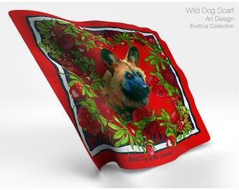 African Wild Dog by Ro London silk satin scarf