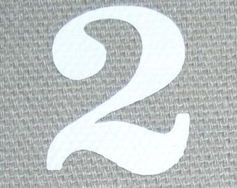 10 Iron-on Numbers kit