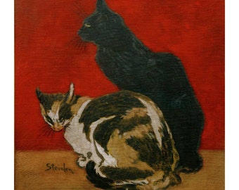 Steinlen - Two Cats 1910 fine art print in choice of sizes