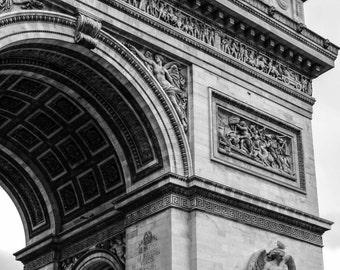 Paris Photography, Paris Photo, French Decor, Paris Decor, Black and White, Arc de Triumphe
