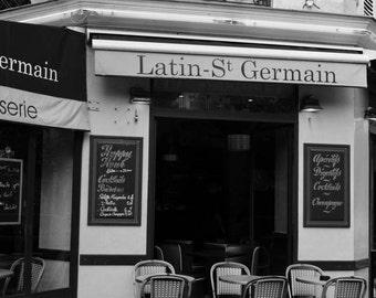 Paris Photography, Paris Photo, French Decor, Paris Decor, Black and White, Paris Cafe, St Germain