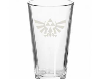 Legend of Zelda Hyrulean Crest Triforce Pint Glass