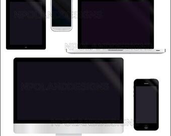 Electronics instant download digital clip art - electronics clipart