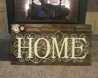 Rustic Home Wall Hanging Rustic Wood Home Decor Large Family Wall Decor Mantel