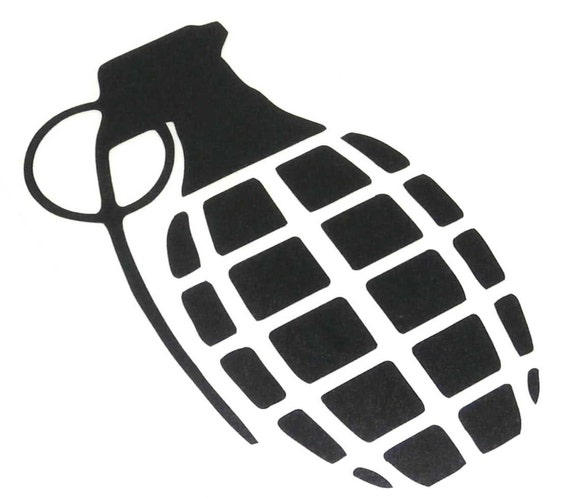 Precision Turbo Decal: Hand Grenade Sticker Decal Stickerbomb Vinyl By StickerBombCom