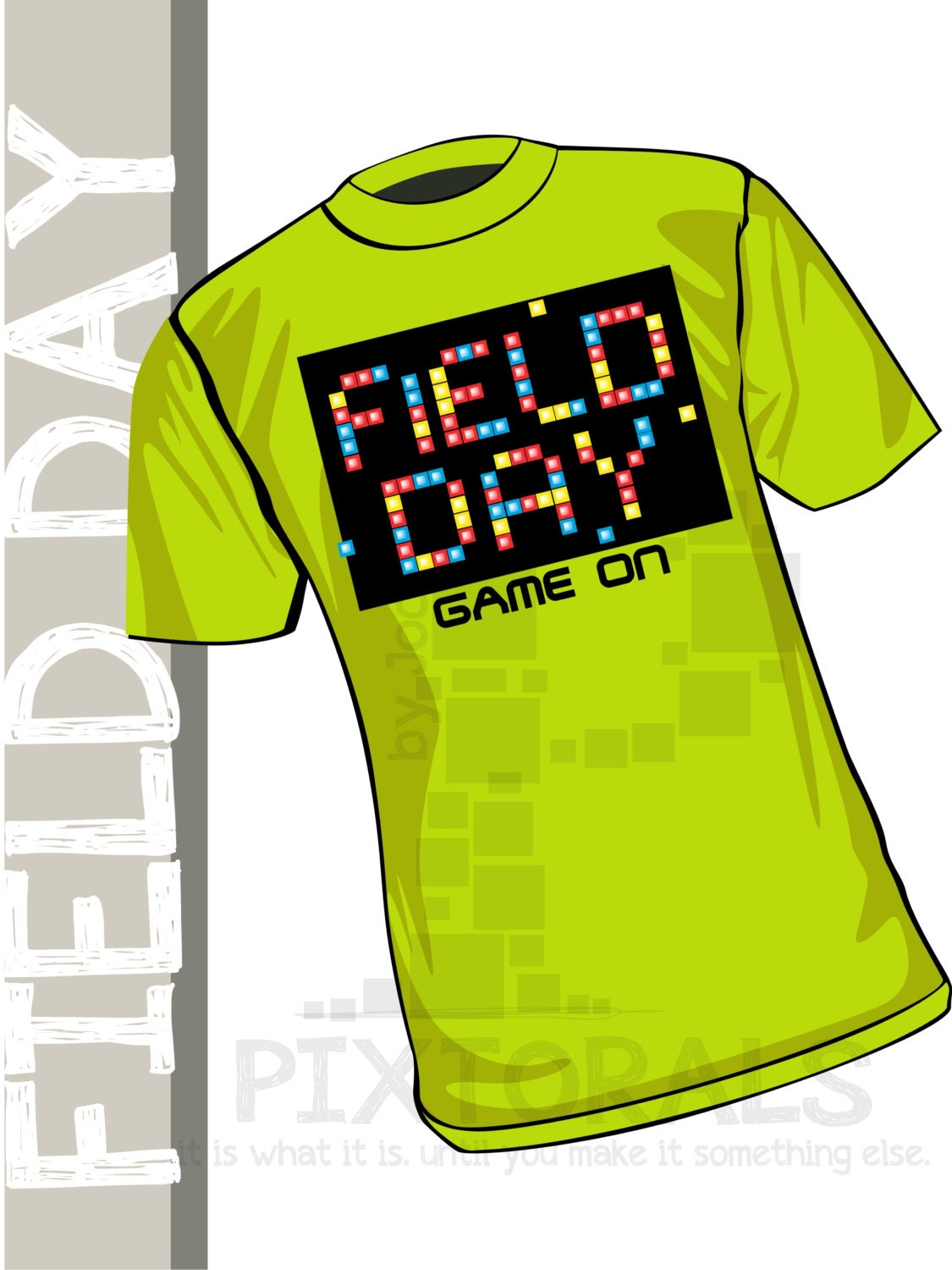 Field Day Kids Tee Shirt Design In Corel And Eps By Pixtorals