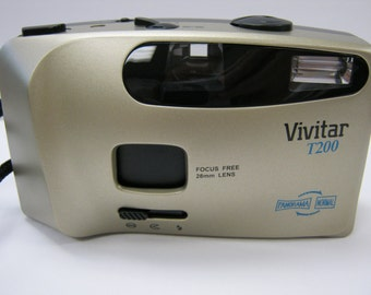 Vintage Vivitar T200 35mm Point and Shoot Film Camera - Brand New in Retail Box Free Shipping