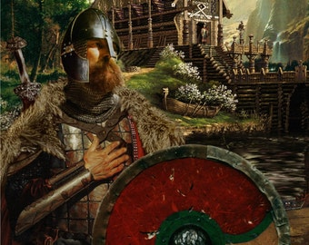 Beowulf, Viking Warrior Canvas Print