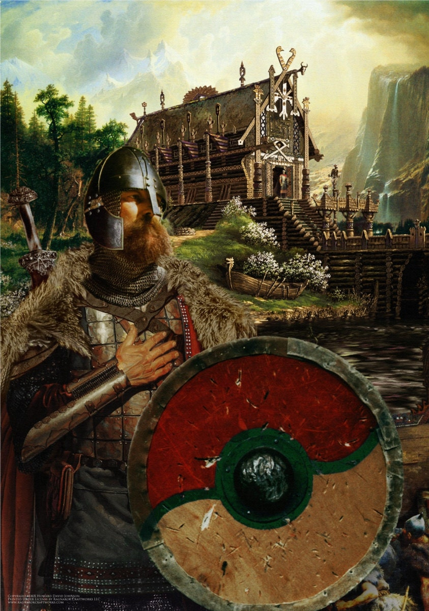 Beowulf Viking Warrior Fine Art Print