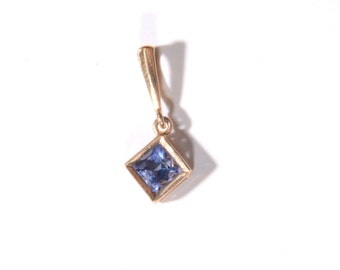 Triangle Cut Tanzanite Pendant (1710)