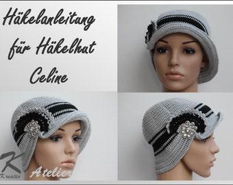 """Crochet Pattern """"Crochet Hat Celine"""""""