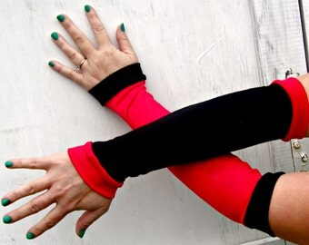 Harley Quinn inspired Arm Warmer Gloves Cosplay Costume