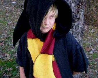 Elven Wizard Hoodie Scarf Harry Potter inspired Hat House Colors