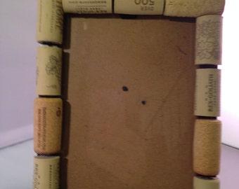 Handmade wine cork frame 5x7