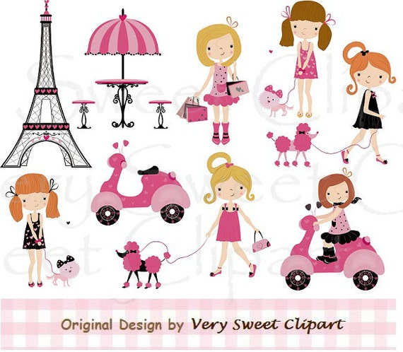 Fashion Girl Clipart Paris Poodle Fashion Girl