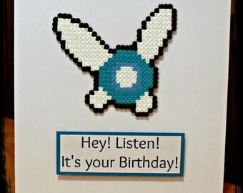 Legend Of Zelda Navi Hama Perler Bead Hey Listen Geeky Jpg 340x270 Happy Birthday From