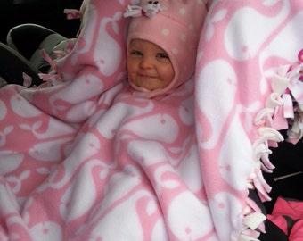 Fleece car seat poncho