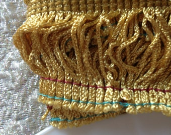 4 Yds of Gold Fringe Trim